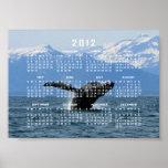 Hora del recreo de la ballena; Calendario 2012 Posters