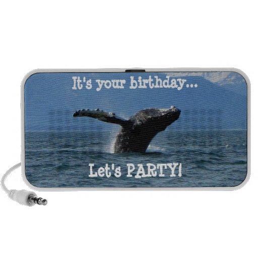 Hora del recreo de la ballena; Feliz cumpleaños Laptop Altavoces