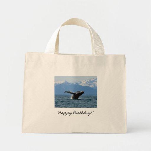 Hora del recreo de la ballena; Feliz cumpleaños Bolsas