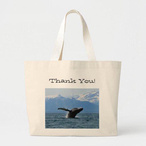 Hora del recreo de la ballena; Gracias Bolsa De Mano
