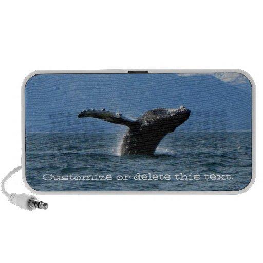 Hora del recreo de la ballena; Personalizable Mini Altavoces