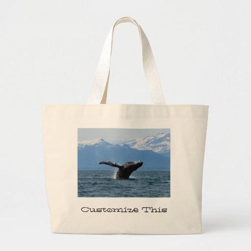 Hora del recreo de la ballena; Personalizable Bolsa