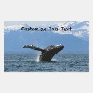 Hora del recreo de la ballena; Personalizable Rectangular Altavoces