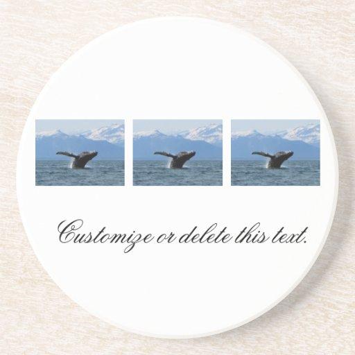 Hora del recreo de la ballena; Personalizable Posavasos Diseño
