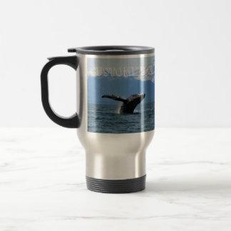 Hora del recreo de la ballena; Personalizable Taza De Viaje De Acero Inoxidable