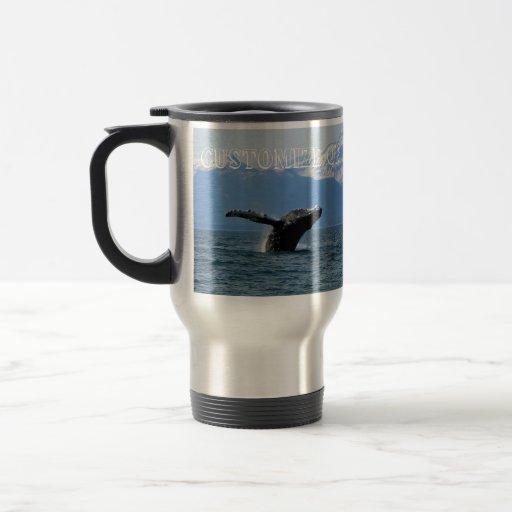 Hora del recreo de la ballena; Personalizable Taza Térmica