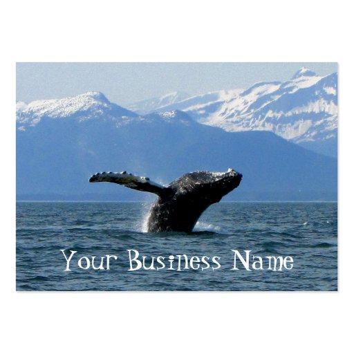 Hora del recreo de la ballena tarjetas de negocios