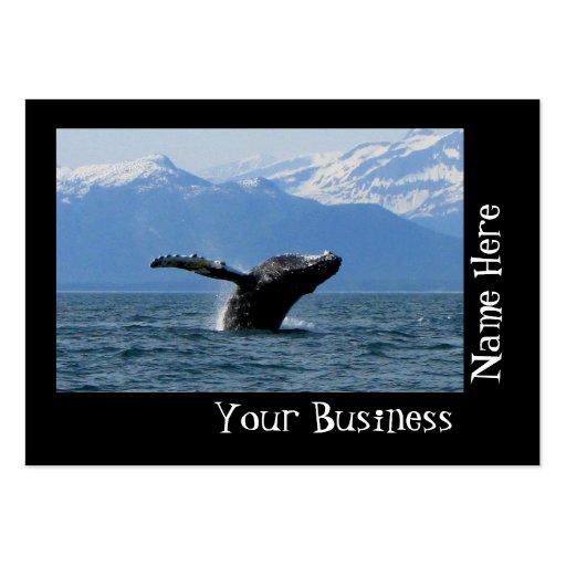 Hora del recreo de la ballena tarjeta de negocio