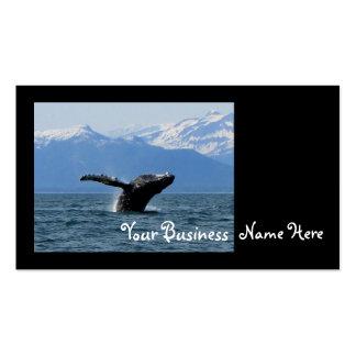 Hora del recreo de la ballena tarjetas de visita