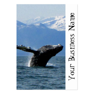Hora del recreo de la ballena tarjetas de visita grandes