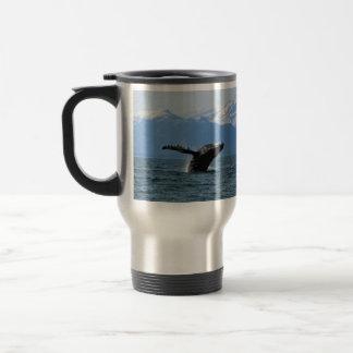 Hora del recreo de la ballena taza de viaje de acero inoxidable