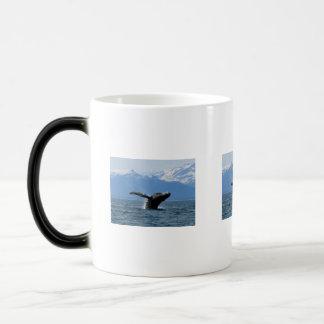 Hora del recreo de la ballena tazas de café