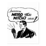 Hora extraña de las brujas de los cuentos postales