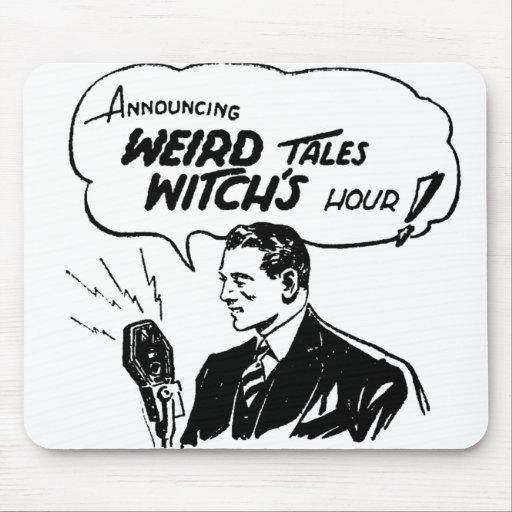 Hora extraña de las brujas de los cuentos alfombrillas de ratón