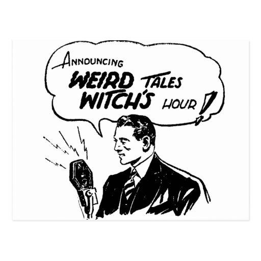 Hora extraña de las brujas de los cuentos postal