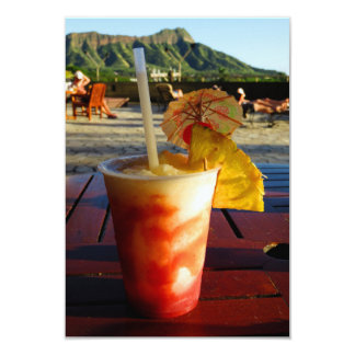 """Hora feliz de Hawaii Invitación 3.5"""" X 5"""""""