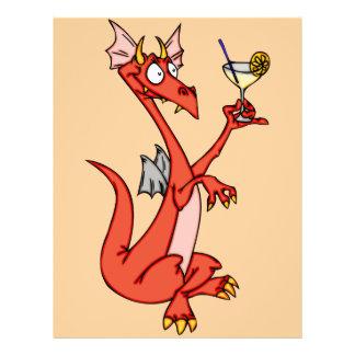 """Hora feliz del dragón folleto 8.5"""" x 11"""""""