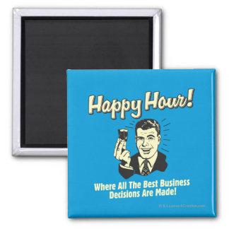 Hora feliz: Las mejores decisiones económicas se t Imán Cuadrado