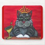 Hora feliz Mousepad del gato gordo