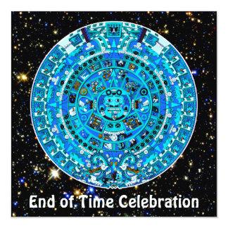 """Hora final celebración del fiesta del 21 de invitación 5.25"""" x 5.25"""""""