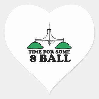 Hora para alguna bola 8 pegatina en forma de corazón