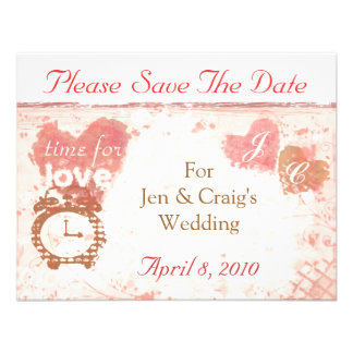 Hora para el ahorrador de la fecha del boda del am invitacion personal