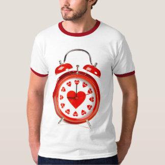 Hora para el amor - original roja del despertador playera
