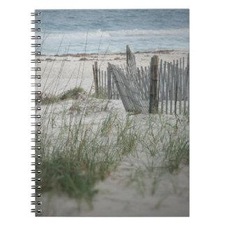 Hora para el cuaderno espiral de la playa