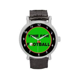 Hora para el fútbol (numerado cara de reloj)