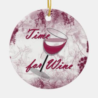 Hora para el ornamento del navidad del vino ornamentos de navidad