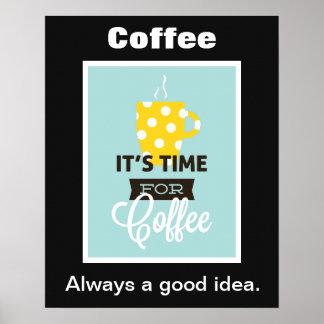 Hora para el poster del café
