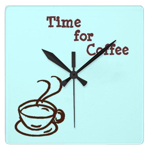 Hora para el reloj de pared del café