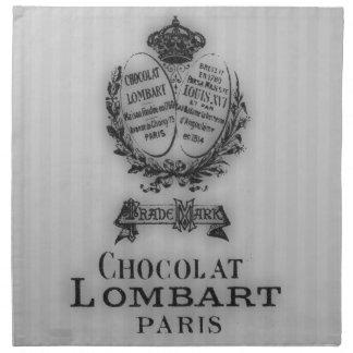 Hora para el té #5 Chocolat Servilleta Imprimida