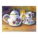 Hora para el té postales