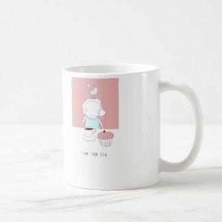 hora para el té taza clásica