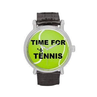 Hora para el tenis relojes