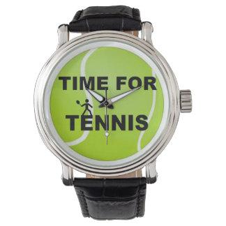 Hora para el tenis relojes de pulsera