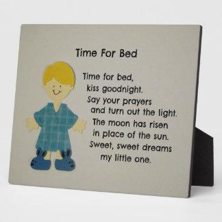 Hora para la cama (niños) placas de madera