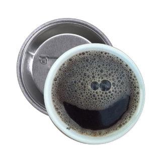 Hora para la cara del smiley del café pin redondo 5 cm