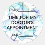 Hora para la cita de mi doctor pegatina redonda