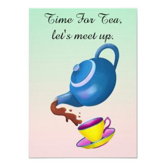 Hora para la invitación del té