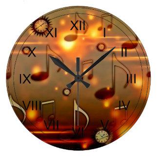 Hora para la música relojes de pared