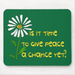 Hora para la paz alfombrilla de ratón
