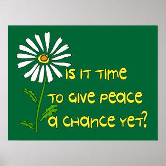 Hora para la paz posters