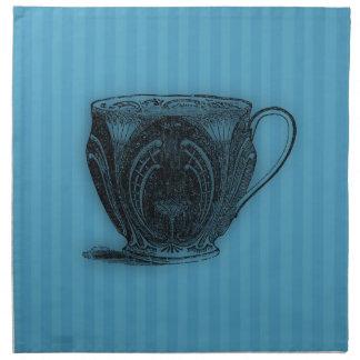 Hora para la taza de té del té #3 servilletas imprimidas