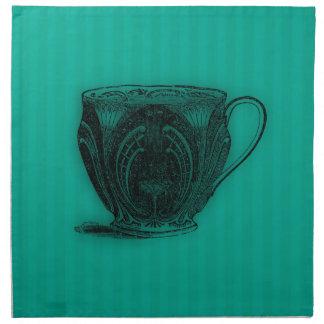 Hora para la taza de té del té #4 servilletas de papel