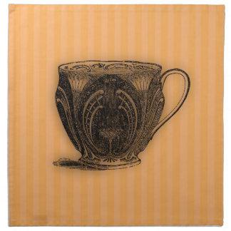 Hora para la taza de té del té #7 servilleta de papel
