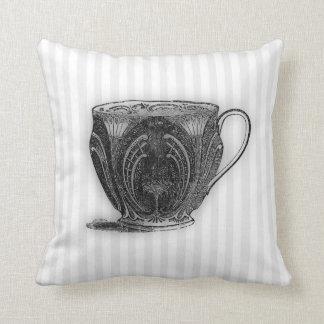 Hora para la taza de té del té #8 cojín