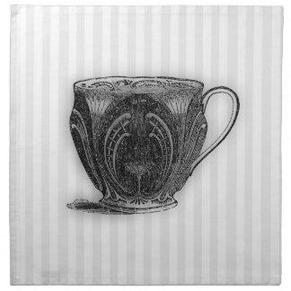 Hora para la taza de té del té #8 servilletas imprimidas