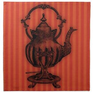 Hora para la tetera del té #1 servilletas imprimidas